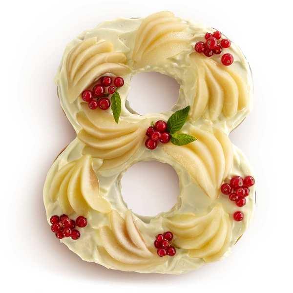 Number cake mould - n°8