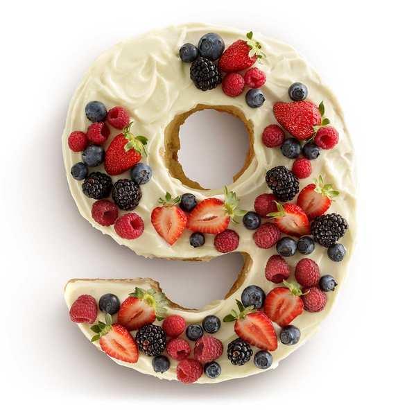Number cake mould - n°9