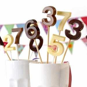 Lékué - Moule silicone sucettes d'anniversaire chiffres