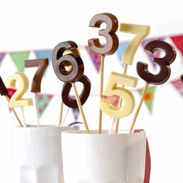 Moule silicone sucettes d'anniversaire chiffres