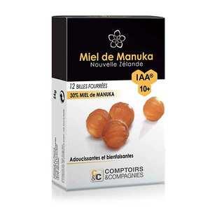 Comptoirs et Compagnies - Billes fourrées 30% miel de manuka UMF 10+