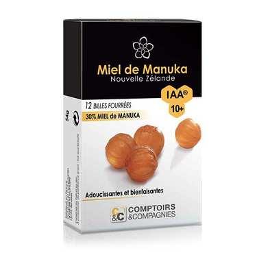 Billes fourrées 30% miel de manuka IAA 10+