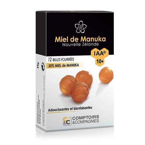 Comptoirs et Compagnies - Billes fourrées 30% miel de manuka IAA 10+