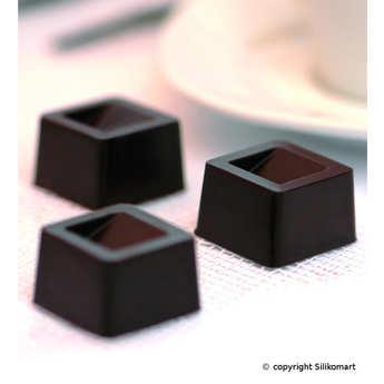 Silikomart - Moule silicone spécial chocolat - EasyChoc Cube