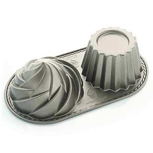Nordic Ware - Cute cupcake aluminium mold