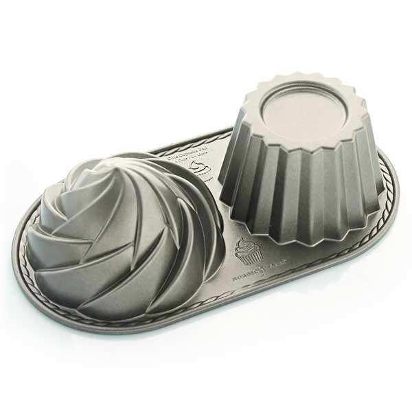 Cute cupcake aluminium mold