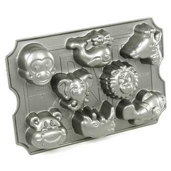 Nordic Ware - Moule fonte d'aluminium animaux du zoo