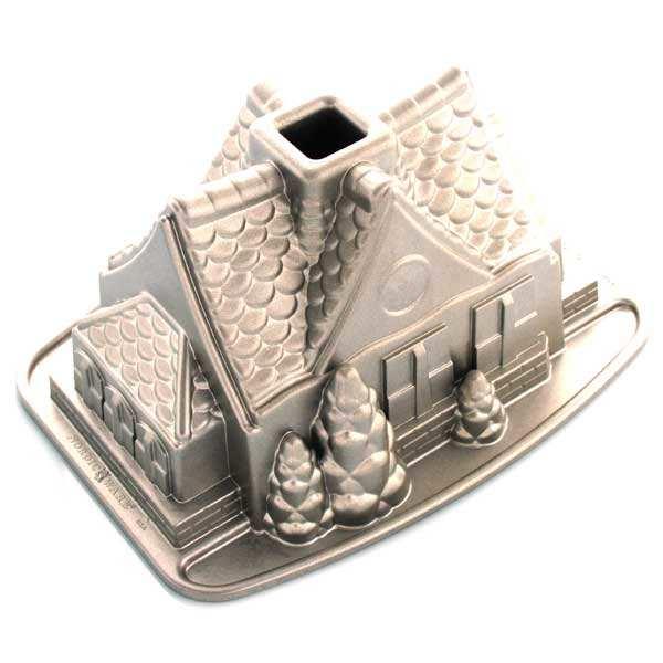 Moule fonte d'aluminium maison en pain d'épices