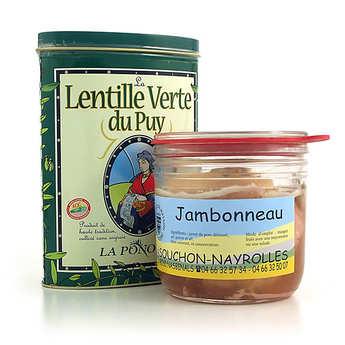 - Duo : jambonneau de Lozère et lentilles vertes du Puy AOC