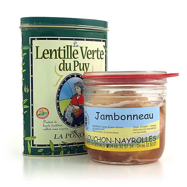 Duo : jambonneau de Lozère et lentilles vertes du Puy AOC