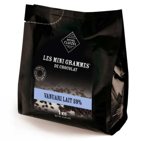 Michel Cluizel - Les minigrammes Vanuari Milk 39%– chocolate for culinary use