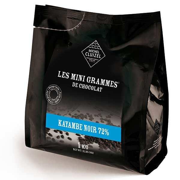 Minigrammes Kayambé noir 72% – chocolat de couverture M.Cluizel