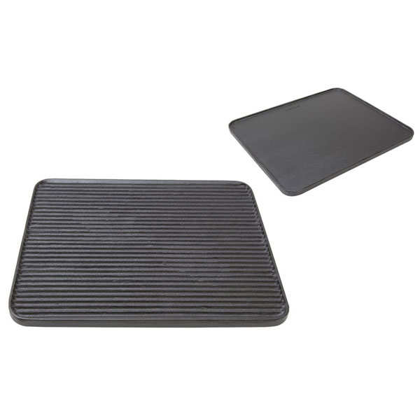 Double-sided grill plate - 36.5 x 31.5cm