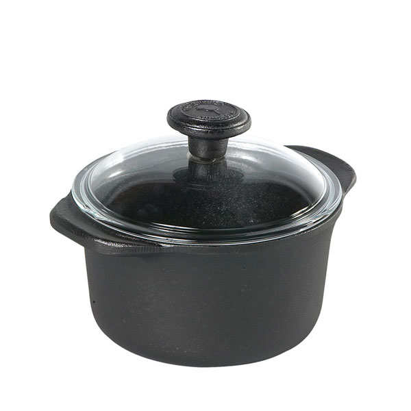 Cast iron casserole dish with glass lid - 1.5l