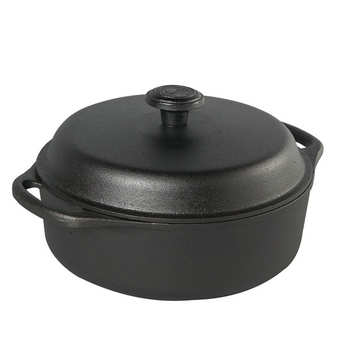 Skeppshult - Cast iron casserole dish with glass lid - 3l