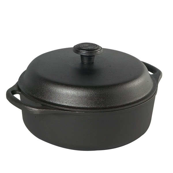 Cast iron casserole dish with glass lid - 3l