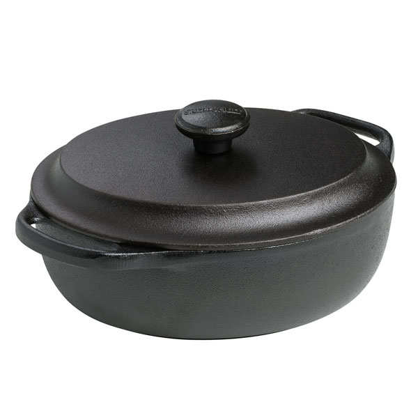 Oval cast iron casserole dish with lid - 2l