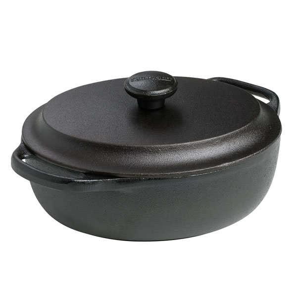 Cocotte ovale 2l en fonte + couvercle fonte -  - cocotte ovale 2 litres