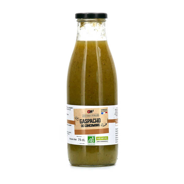 Gaspacho de concombres à la menthe verte bio