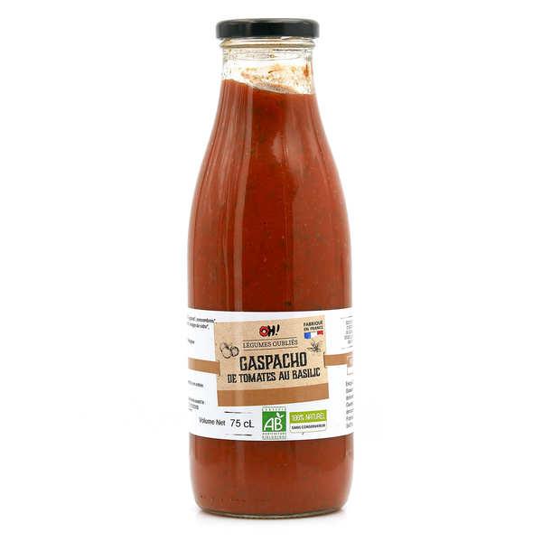 Gaspacho de tomates au basilic frais bio