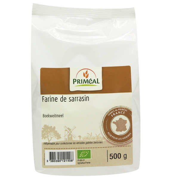 Organic wholegrain buckwheat flour