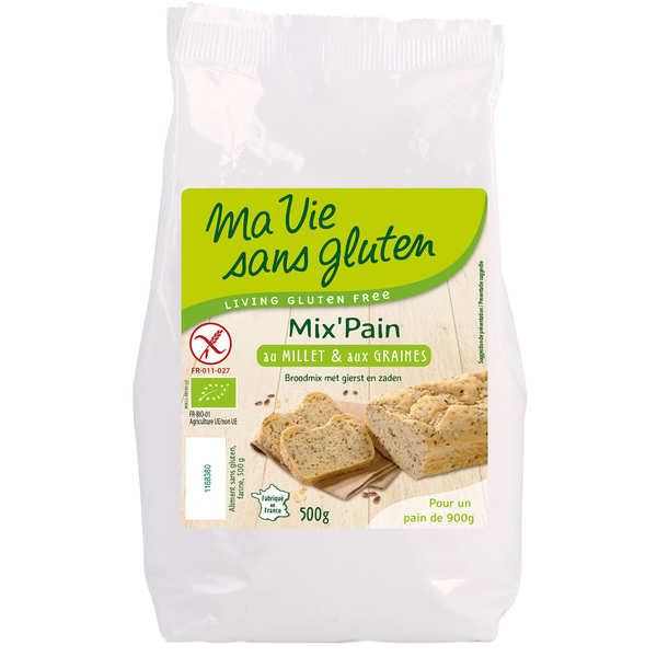 Organic bread flour with millet and seeds - gluten-free