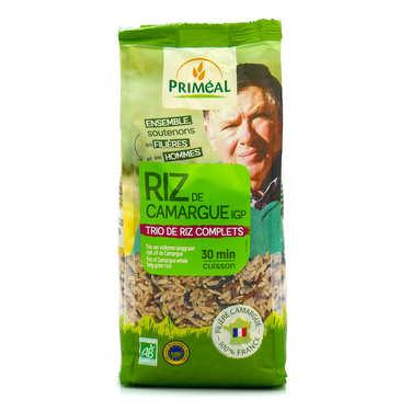 Trio de riz longs complets de Camargue bio