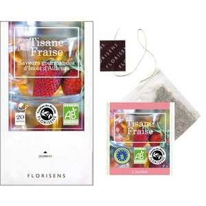 Aromandise - Tisane bio à la fraise en infusettes