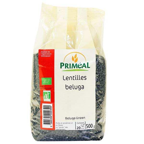 Organic beluga lentils
