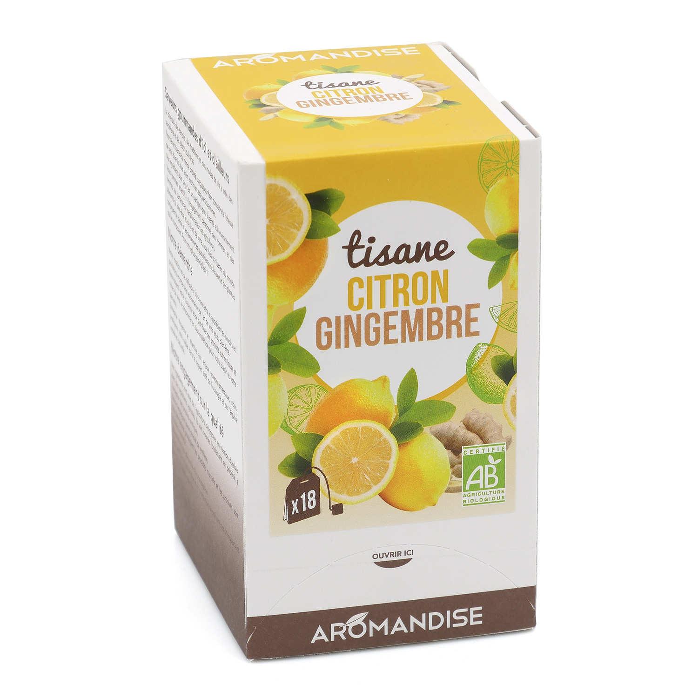 Organic ginger & lemon tea