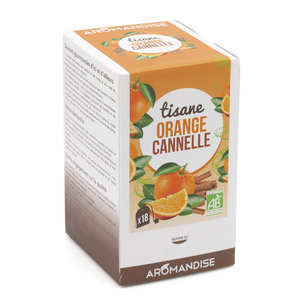 Aromandise - Tisane bio Orange Cannelle en infusettes