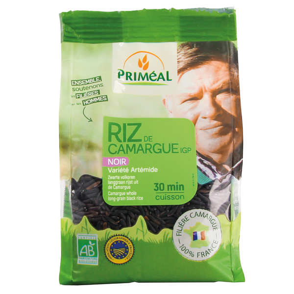 Long wholegrain black rice from Camargue, France