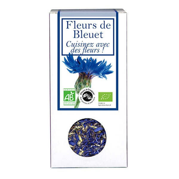 Organic edible cornflowers