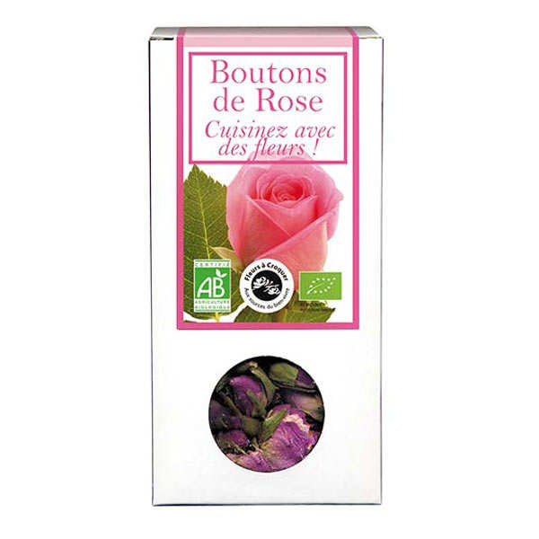 Boutons de rose bio - Fleurs à croquer