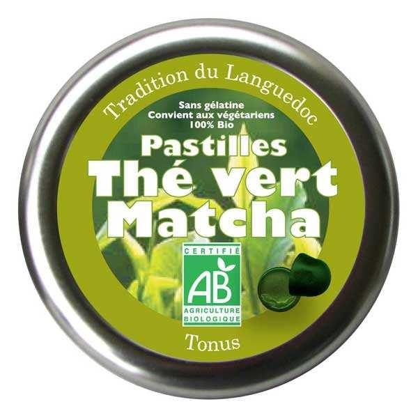 Pastilles bio au thé vert matcha