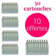 Liss - 40 cartouches de 8g de N2O pour siphon chantilly + 10 offertes