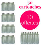 Liss - 40 cartouches pour siphon + 10 offertes N2O - Pour chantilly