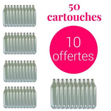 40 cartouches de 8g de N2O pour siphon chantilly + 10 offertes