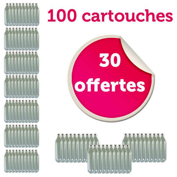 70 cartouches de 8g de N2O pour siphon chantilly + 30 offertes