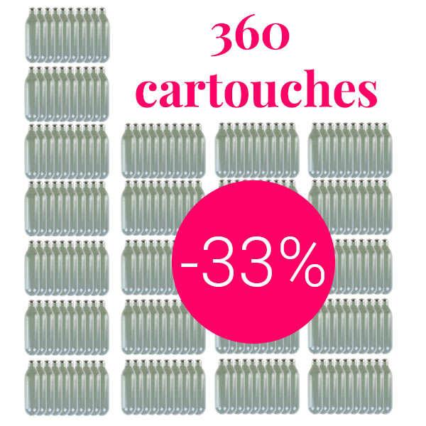 360 cartouches gaz siphon professionnelles N2O - Pour chantilly