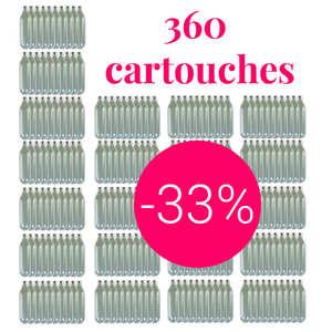 Liss - 360 cartouches gaz siphon professionnelles N2O - Pour chantilly