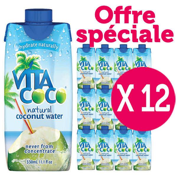 Vita coco - 100% pure eau de coco - Le lot de 12 bouteilles