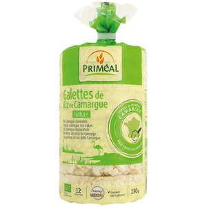 Priméal - Galettes de riz de Camargue nature Bio sans gluten