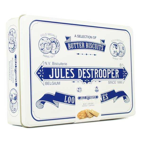 Grande boite rétro de biscuits belges assortis