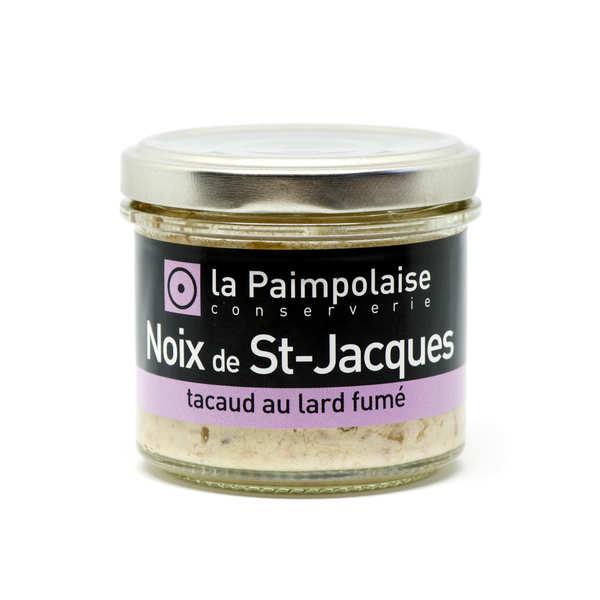 Rillettes de noix de St-Jacques et tacaud au lard fumé