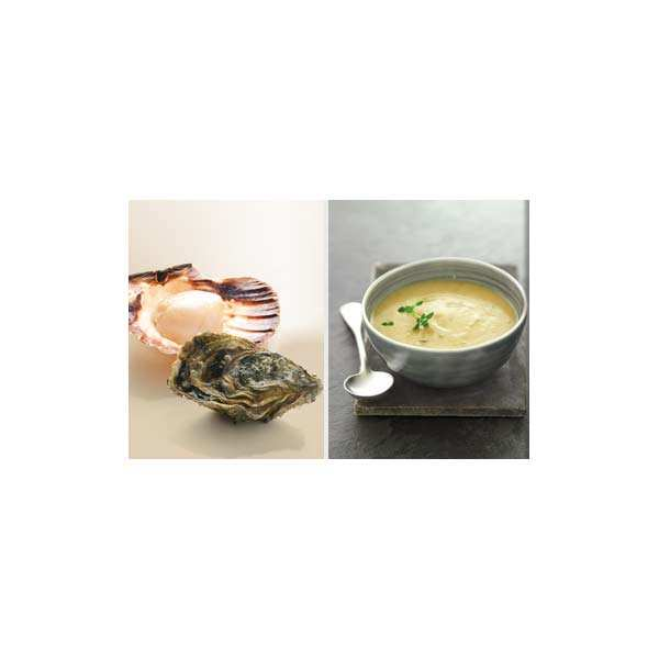 Oyster and St Jacques Scallop Velouté