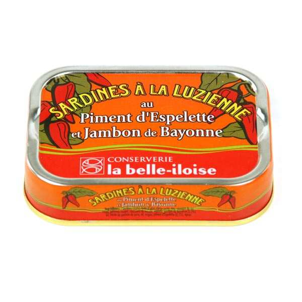 Luzienne Sardines with ham and Espelette chilli