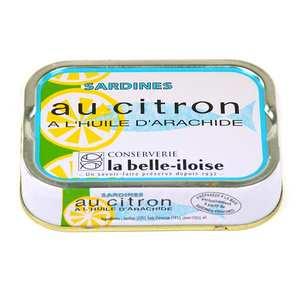 Conserverie La Belle Iloise - Sardines à l'huile d'arachide et au citron